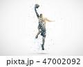 basketball abstract silhouette 2 vector ver. 47002092