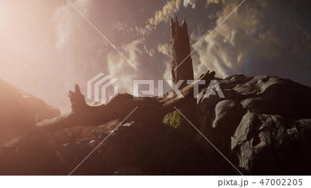 Mountain landscape at sunset.  47002205