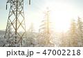 ゆき スノー 雪のイラスト 47002218