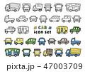 車 アイコン セットのイラスト 47003709