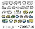 車 アイコン セットのイラスト 47003710