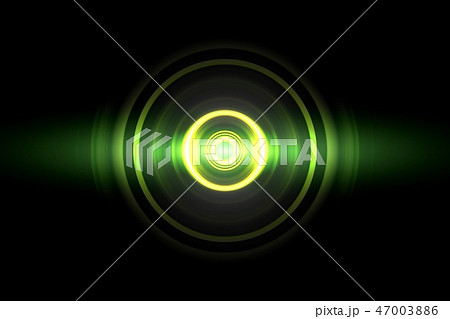 Abstract glowing circle green light effect 47003886