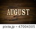 AUGUSTと書かれた木製の小物 47004305
