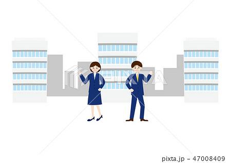 ビジネス素材-会社と新入社員7 47008409