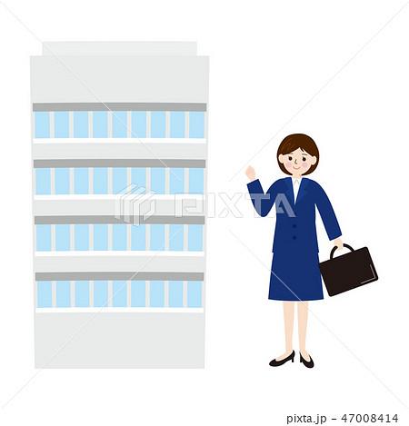 ビジネス素材-会社と新入社員女性5 47008414