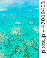 世界遺産グレートバリアリーフの空撮 47009403