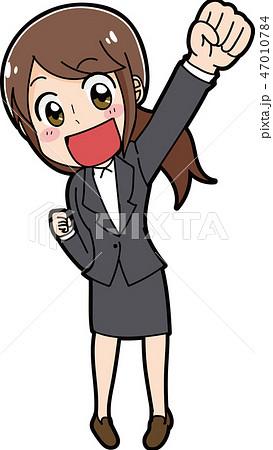 スーツを着た女性のイラスト素材 47010784