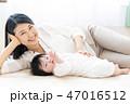 赤ちゃん 親子 母親の写真 47016512