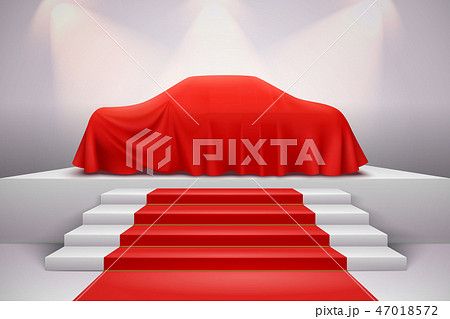 Cloth Covered Car Presentation  47018572