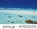 下地島空港RW17エンド周辺の青い海 47020258