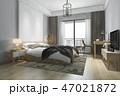 ベッド 寝台 寝床のイラスト 47021872