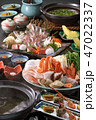海鮮料理 魚介料理 鍋 日本料理 食べ物 鍋料理 鍋料理イメージ 鍋懐石 コース料理  47022337