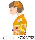 成人式 女性横向き 47023752