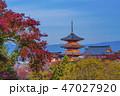 寺社仏閣 清水寺 三重塔の写真 47027920