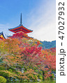 寺社仏閣 清水寺 三重塔の写真 47027932