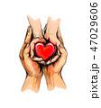 ハート ハートマーク 心臓のイラスト 47029606
