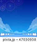 背景素材 野外イベント 冬(夜) 47030938