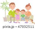 家族 ソファ 犬のイラスト 47032511