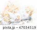 猫 昼寝 寝るのイラスト 47034519