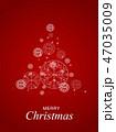赤 クリスマス デコレーションのイラスト 47035009