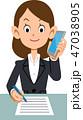 ビジネス 電話 メモのイラスト 47038905