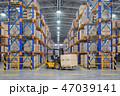 フォークリフト 倉庫 流通のイラスト 47039141