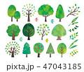 木 水彩 アイコンのイラスト 47043185