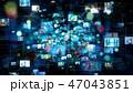 CG SNS ソーシャルメディアのイラスト 47043851