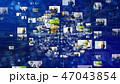 CG SNS ソーシャルメディアのイラスト 47043854