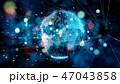 サイバー グローバル ネットワークのイラスト 47043858