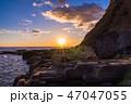 (静岡県)南伊豆入間千畳敷・夕景 47047055