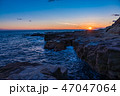 (静岡県)南伊豆入間千畳敷・夕景 47047064