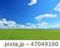 青空 夏 草原の写真 47049100