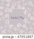 花 バレンタイン 薔薇のイラスト 47051897