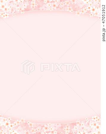 和-和風-和柄-背景-和紙-春-桜-ピンク 47051912