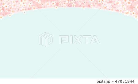 和-和風-和柄-背景-和紙-春-桜-ブルー 47051944