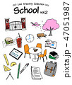 School 2 -Line Drawing Collection-color 47051987