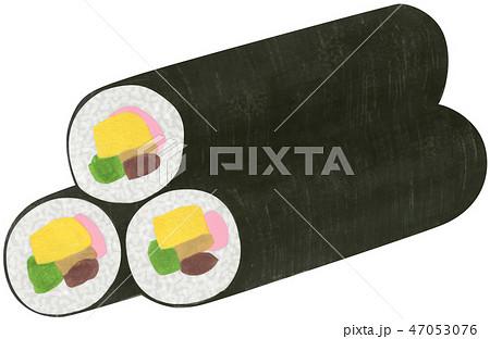 手描き 巻き寿司 47053076