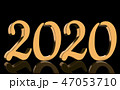 3D Render - The year 2020 in golden numbers 47053710