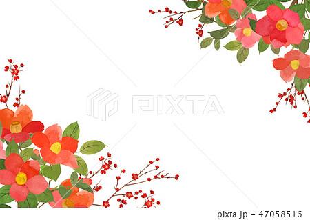 梅と椿フレーム 47058516