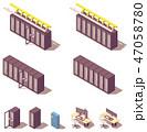 アイソメトリック アイソメ 等角図のイラスト 47058780