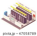 アイソメトリック アイソメ 等角図のイラスト 47058789