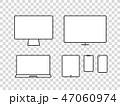 スマフォ スマホ スマートフォンのイラスト 47060974