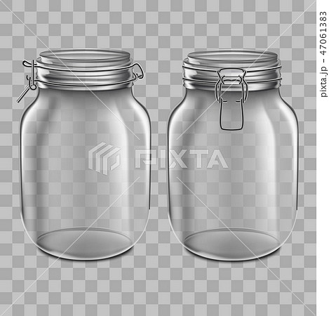 Realistic 3d Detailed Glass Jar with Swing Top Set. Vector 47061383