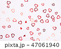 Heart-shaped confetti on white background. 47061940
