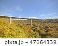 山中の橋梁・秋 47064339