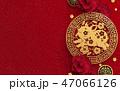 中国新年 中国正月 ブタのイラスト 47066126