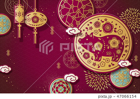 Year of the pig design template 47066154