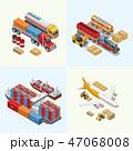 貨物 運送 積荷のイラスト 47068008