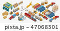 貨物 運送 電車のイラスト 47068301